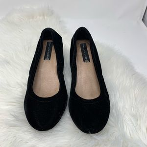Steven by Steve Madden Black Velvet Shoes
